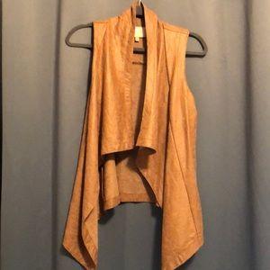 Tan Leather Vest Size S